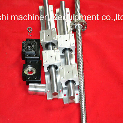 1pc Antibacklash Ballscrew RM1605-300mm+2 SBR20 linear rails+BK/BF12+1 coupler