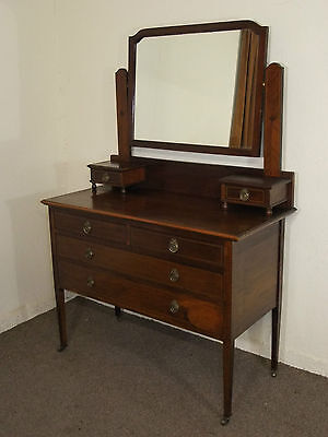 Antique Edwardian Inlaid Mahogany Dressing Table Free Deliv In 100 Mls Of Perth