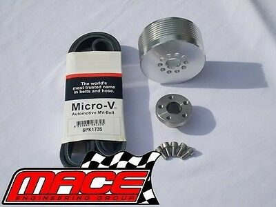 9Psi - 11Psi Boost Pulley Upgrade Kit With Belt Holden L67 Supercharged 3.8L V6
