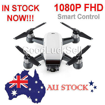 AU! DJI Spark Alpine White Quadcopter Drone - 12MP 1080p Video - CP.PT.000731
