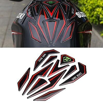 Universal Reflective 3D Motorcycle Sticker Fuel Tank Protector Pad Cover Decorat