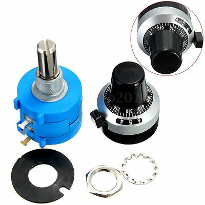 Hot 5K Ohm 3590S-2-502L Potentiometer With 10 Turn Countin Dial Rotary Knob UP