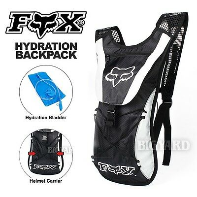 10L Grey FOX Hydration Water Backpack Bag Pack Camping Cycling Hiking 2L Bladder