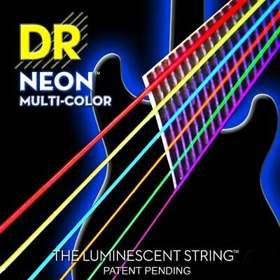 DR Strings NMCE-9/46  Neon Multi-Color Coated Electric Guitar Strings 9 - 46