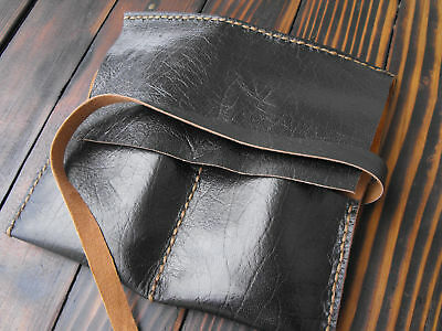 Watch leather case, leather watch storage, leather pouch, 2pcs watch roll pouch