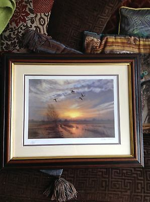 Julian Novorol signed limited edition print wildfowling shooting