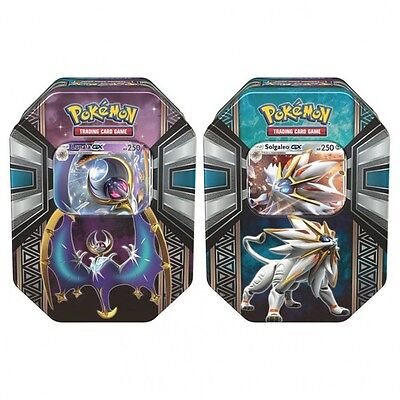 Pokemon Legends Alola Sun Moon Tins Trading Card Games Lunala Solgaleo New TCG
