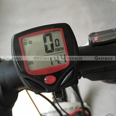 Waterproof 15 Function LCD Bike Bicycle Odometer Speedometer Cycling Speed Meter