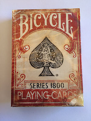 Series 1800 Marked Vintage Red Bicycle Deck Of Playing Cards Magic Tricks Gaff