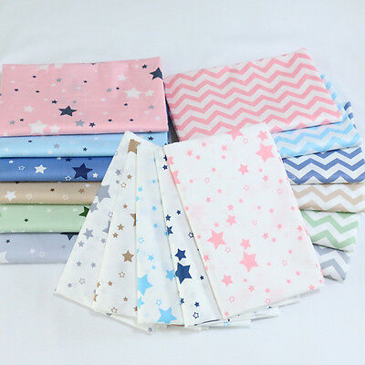 New One PCS Cotton Fabric Pre-Cut Cotton cloth Fabric for Sewing Stars A2
