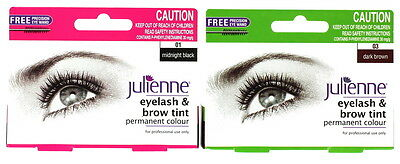 Julienne Permanent Eyelash And Brow Colour Tint With Eye Wand