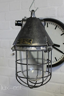 """THALE S RAW"" Fabrik Design Bunker Lampe Original Industrial Cage Light Fixture"
