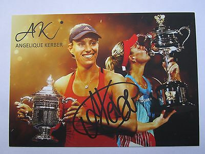 ORIGINAL Autogramm ANGELIQUE KERBER Tennis