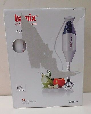 Bamix Deluxe M150 Black Immersion Hand Blender - White
