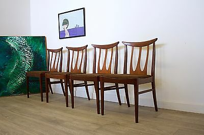 DELIVERY£60 Mid Century Retro Danish Style G Plan Brasilia Teak 4 Dining Chairs