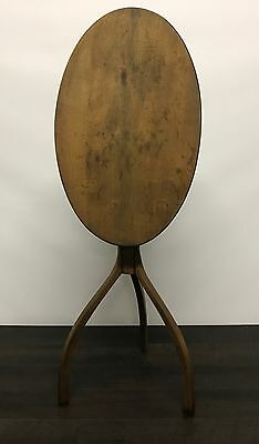 An Early Primitive Amercian Tilt Top Candlestand