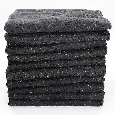 10 x (200cm x 150cm) Premium Removal Blankets Furniture Moving Packing Tran D5W4