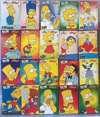The Simpsons Rare Card Set Kelloggs Cereal