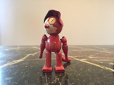 red wood beaded Felix The Cat RARE and vintage