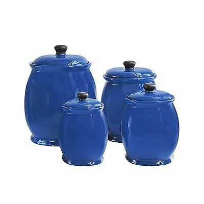 American Atelier 4Piece Canister Set-Blue, , Blue