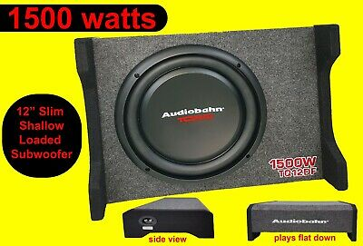 """8"""" Active Amplified AMP Bass Box Subwoofer Sub Car Audio 1200 Watts Blue"""