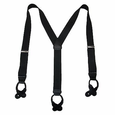 New MTL Men's Elastic Button End Dress Suspenders with Silver Hardware USA Made