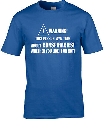 Conspiracy Theory Mens T-Shirt Funny Hobby Statement Meme Conspiracies Aliens