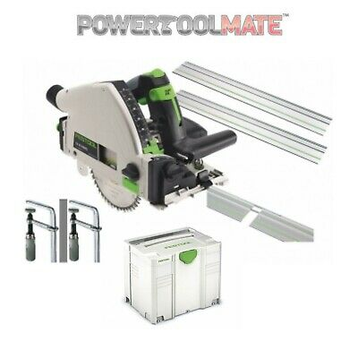 Festool TS55 REBQ-PLUS 712657 240V Plunge Saw w/ 2 x 1.4m Rails & Accessories