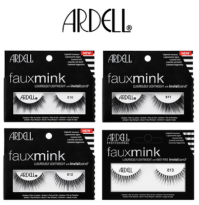 fa72f9cdf04 Ardell FAUX MINK Luxurious Eyelashes With Invisiband CHOOSE A STYLE & AMOUNT
