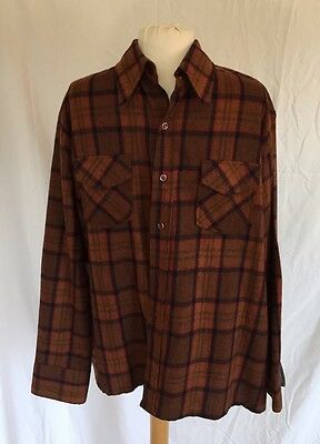 Vintage Woolothewest Mens Size XL Button Up Plaid Shirt Rockabilly Top