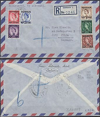 1960 Bahrain R-Cover to Germany, MUHARRAQ cds [bl0184]