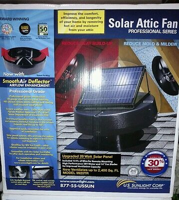U.S. Sunlight 20W Solar Attic Fan