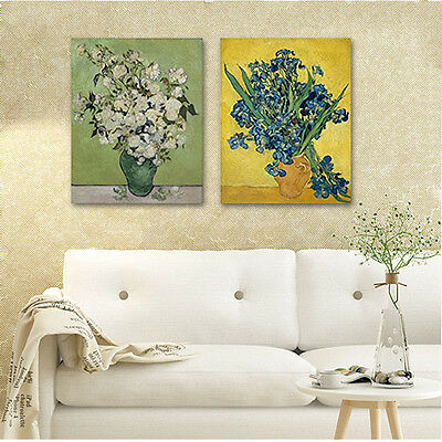 Van Gogh Painting Reproduction Canvas Print Home Decor Wall Art Flowers Framed
