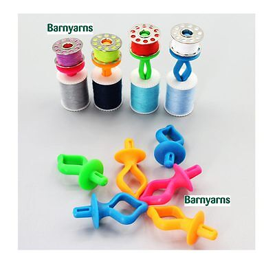 Bobbin Holders to keep your top & bottom threads together - Pack 12 Mixed Colour