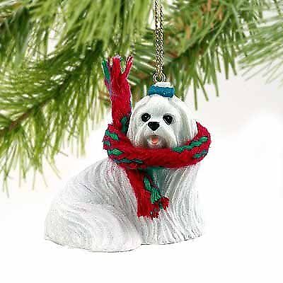 Maltese Miniature Dog Ornament