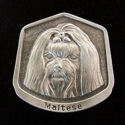 Maltese Fine Pewter Dog Breed Ornament