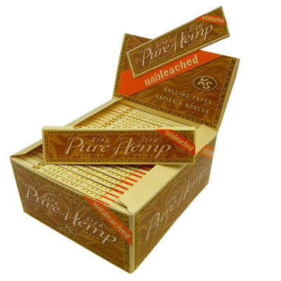 Unbleached Kingsize Pure Hemp Cigarette Rolling Joint Roll Papers