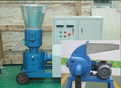 COMBO PELLET MILL 7.5kw 10HP + HAMMER MILL 7,5KW ELECTRIC ENGINE in USA ALREADY!
