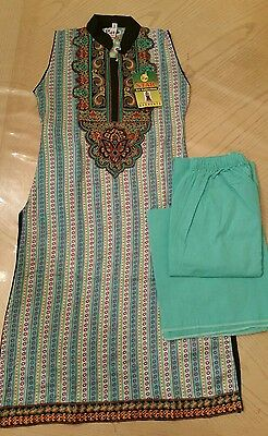 NEW Girls Light Blue Ready- Made Salwar Kameez, 3 pc Size 7/8