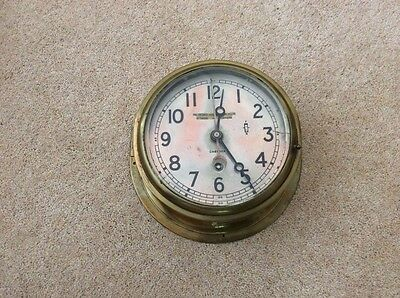 Ships Clock Brass 6 inch Dial very good quality
