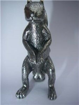 Squirrel Figurine Nuts Protector Card Guard Poker Metal NEW