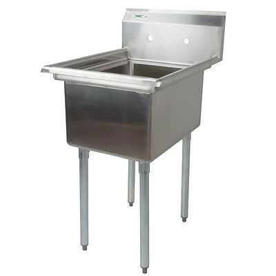 """22"""" 16-Gauge Stainless Steel One Compartment Commercial Restaurant Mop Prep Sink"""