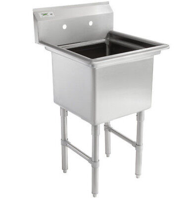 """23"""" 16-Gauge Stainless Steel One Compartment Commercial Restaurant Mop Prep Sink"""