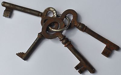 19th Century Imperial Russia Interesting Bunch of 4 Old Keys