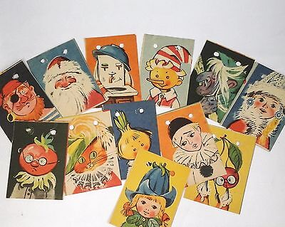 Vintage Soviet Garland - 12 PCs Rare Christmas Ornament - Made in USSR - Russia
