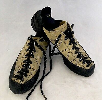 Mad Rock Yellow Suede Leather Rock Climbing Shoes US Women  7.5