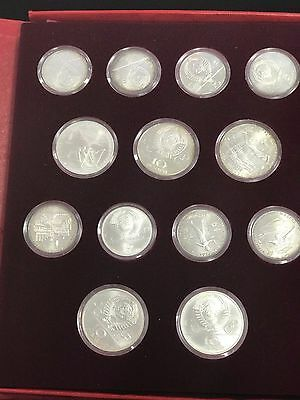 1980 Soviet Olympic Silver 28 Uncirculated Coin Set 5 and 10 Rubble