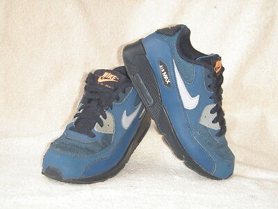 Nike Air Max boys trainers Blue/Orange Leather UK 2.5 EU 35, 22 cm