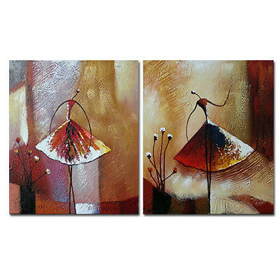 Modern Abstract Hand Paint Oil Painting on Canvas Home Art Decor Dancing Framed