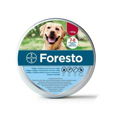 Bayer Foresto Flea & Tick Collar for Big Dogs above 18lbs, 8 months Protection